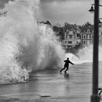 Les grandes marées à Saint-Malo en photo noir et blanc
