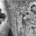 Les grandes marées à Saint-Malo en noir et blanc
