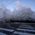 Photo, Plage du sillon, tempêtes Pétra-dirk-Qumaira, grandes marées Février 2014,Bretagne