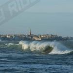 Photo de la Plage du sillon pendant les tempêtes Pétra-dirk-Qumaira et les grandes marées Février 2014