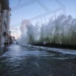 Le sillon pendant la tempête Pétra